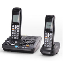 Digital Cordless Phone With Answer System Call ID Home Wireless Base Station Cordless Fixed Telephone For Office Home Black