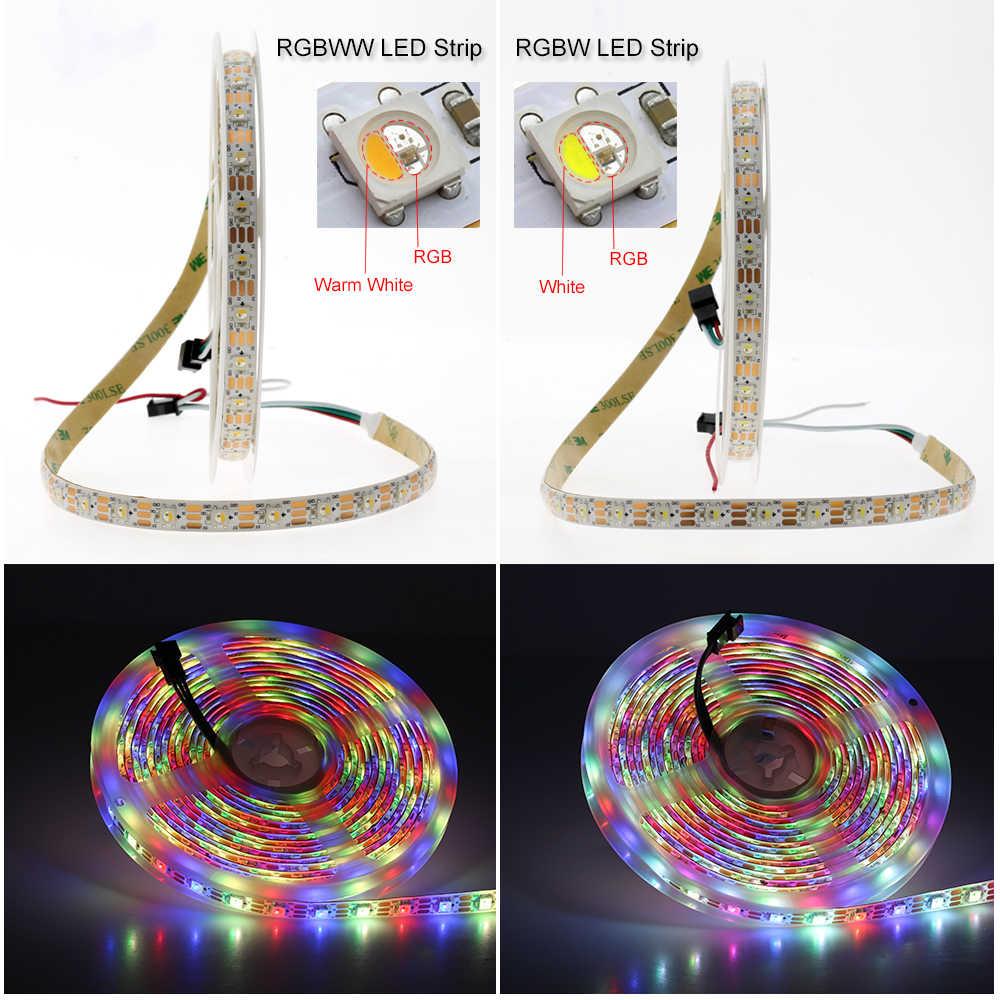 SK6812 LED Pixel Strip RGBW / RGBWW 4 in 1 DC5V Flexible LED Light, SK6812 is the Upgrade of WS2812B.