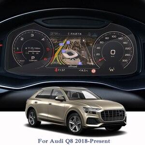 Защитная пленка для Audi Q8 2018-2020, стеклянная пленка для экрана приборной панели с GPS-навигацией и контролем климата, автомобильные аксессуары