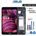 Оригинальный 8 дюймов для Asus Memo Pad 8 ME181 ME181C K011 ЖК-дисплей дигитайзер сенсорный экран панель в сборе с рамкой черный/белый