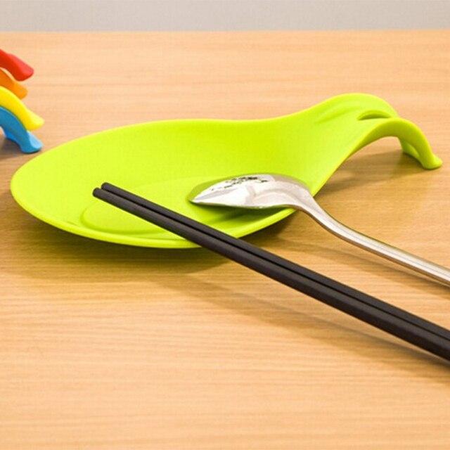 Kitchen Accessories Gadgets Silicone Multipurpose Spoon Rest Mat Holder for Tableware Kitchen Utensil Kitchen Gadgets Supplies 3