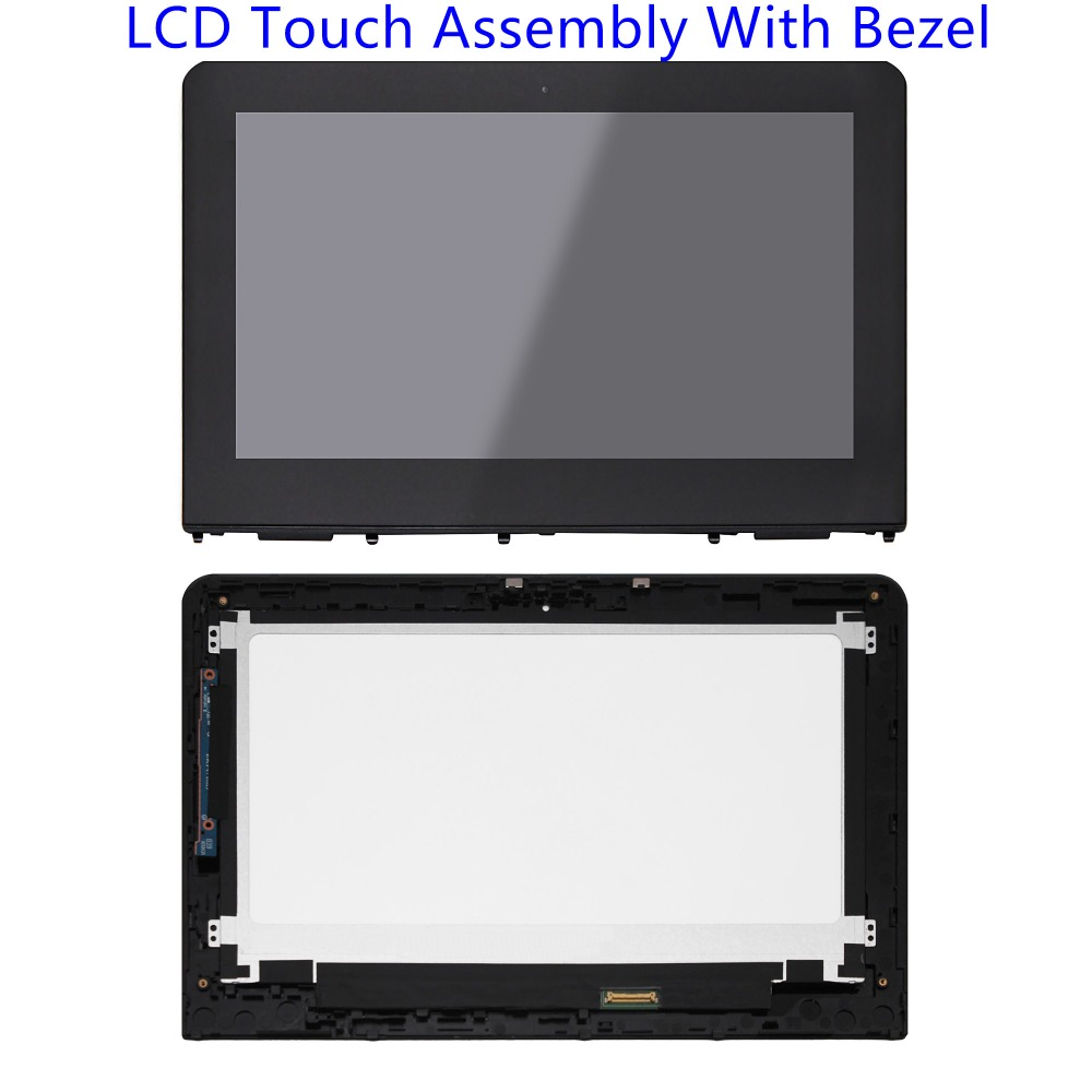 11.6'' LCD Touch Screen Glass Assembly with Bezel For HP X360 11-AB 11-AB011DX 11-ab005nf 11-ab001na 11-ab000na 906791-001 touch screen digitizer lcd assembly for hp stream x360 11 ab 11 ab005tu 11 ab031tu 11 ab013la 11 ab006tu 11 ab035tu 11 ab011dx