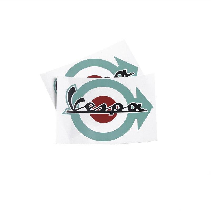 KODASKIN Freeshipping Emblème 2 3dsticker motos Décalcomanies graphique moto logofor Piaggio VESPA 2 pièces vert couleur