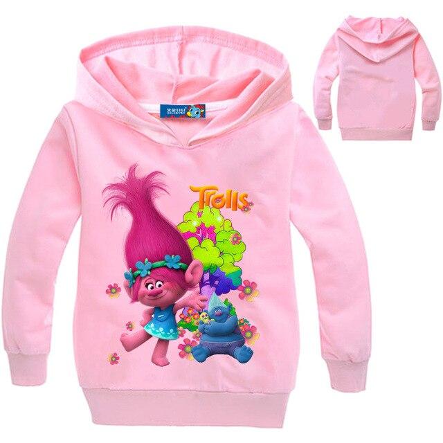 4ac09b69c9be New Trolls Boys Clothes Girl Long Sleeve T Shirt Printing Cartoon ...