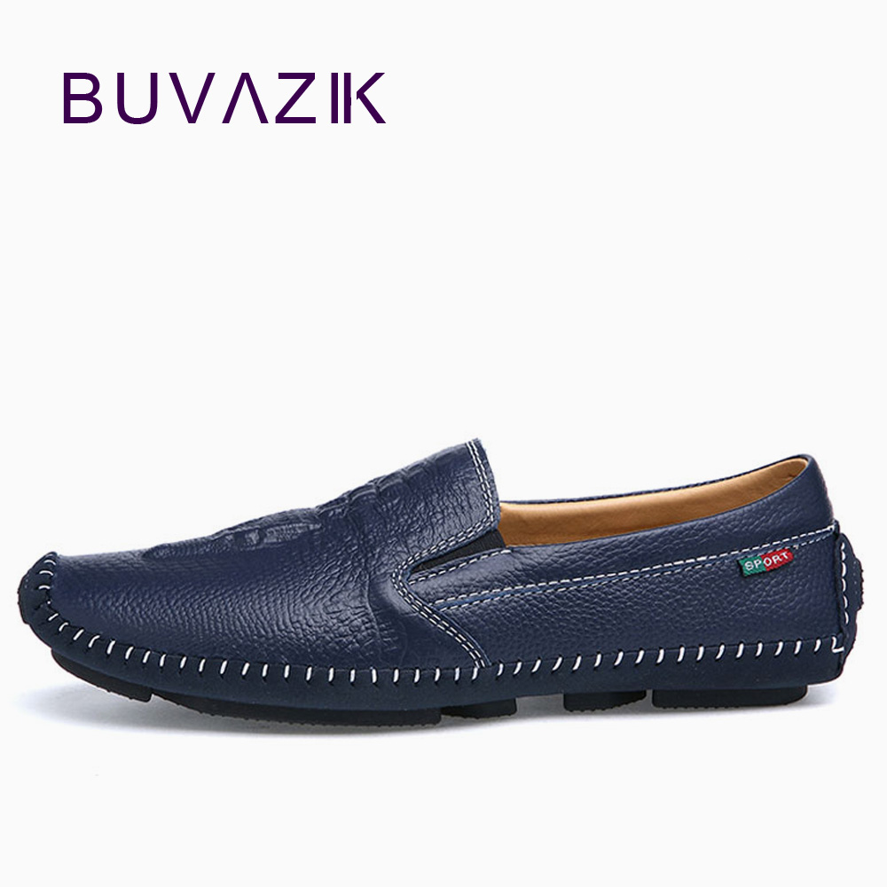 2018 Brand Best Quality Comfortable Driving Men Shoes Genuine Leather Casual Male Shoes Soft Loafers size 42 43 44 vesonal driving brand genuine leather casual male shoes men footwear adult 2017 spring autumn comfortable soft driving for man