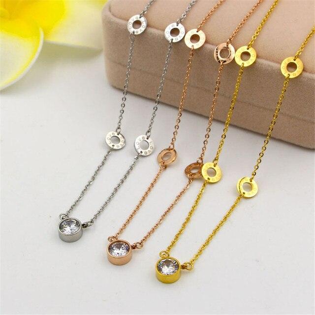 3e4568414936 Collares grandes de moda 2016 solo cristal Rond Collares y colgantes  SILVE oro rosa
