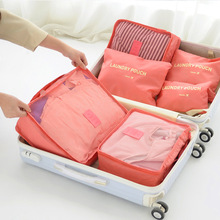 High Quality Nylon Packing Cube Travel Bag System Durable 6 Pieces Set Large Capacity Of Bags Unisex Clothing Sorting Organize