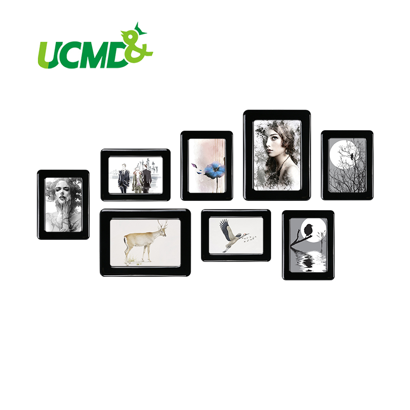 "Magnetic Photo Frame With Adhesive Crystal Surface 6"" X 4"" 7"" X 5"" For Kids Room Wall Decor Magnet Picture Frame 8 Pieces / Set"