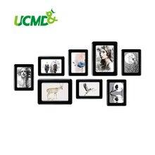 """Marco de foto magnética con superficie de cristal adhesiva 6 """"X 4"""" 7 """"X 5"""" para niños, pared de habitación, imán de decoración, marco de fotos, 8 unids/set"""
