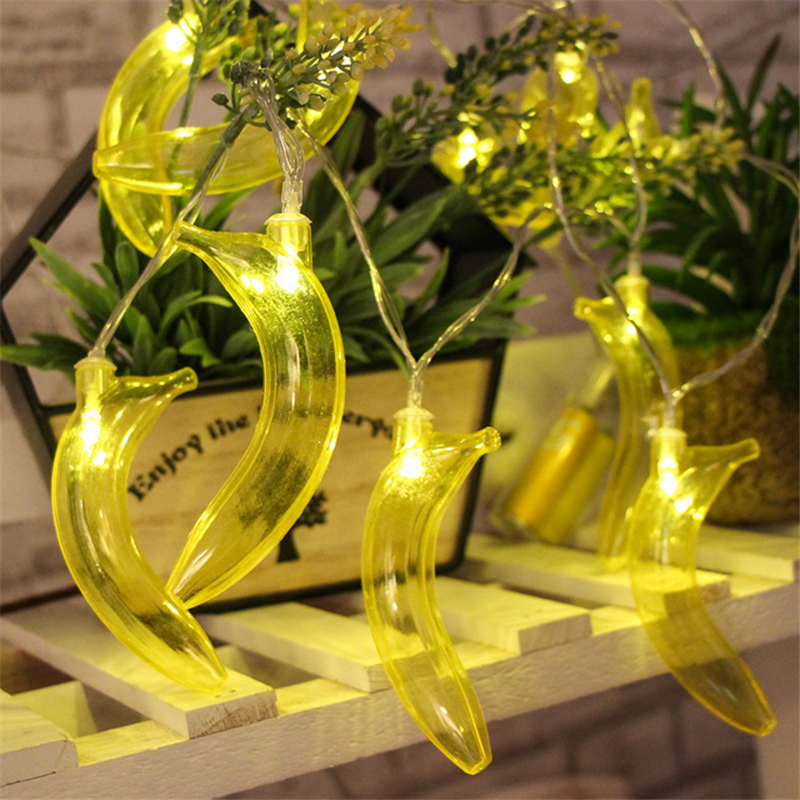 1.5 M Holiday Fruit Lights Battery Operated Light Lamps  Banana Christmas LED Lights For Children Gift Room Decor
