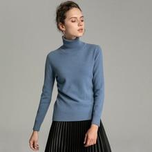 LHZSYY Autumn Winter New Women High lapel 100%Cashmere sweater Bottoming Shirt Knit Pullover Solid color Short Wild Warm Sweater недорго, оригинальная цена