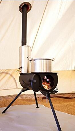 Trasporto libero all'aperto Barbecue di legno stufa
