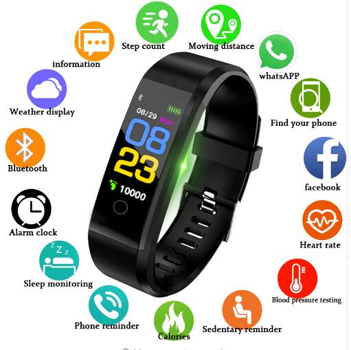 7331f88d6 2019 New Smart Watch Men Women Heart Rate Monitor Blood Pressure Fitness  Tracker Smartwatch Sport Watch for ios android +BOX