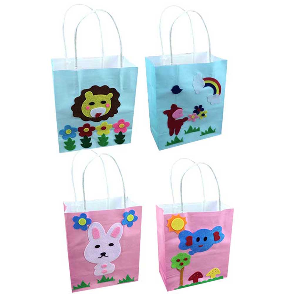 Kids DIY Handbags Handmade Craft Sewing Kids Colored Cartoon Toys Gifts