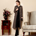 2017 Winter Women Plus Size High Quality Woolen Outerwear Trench Slim Casual Wool Coat Long Design Trench Coat For Women