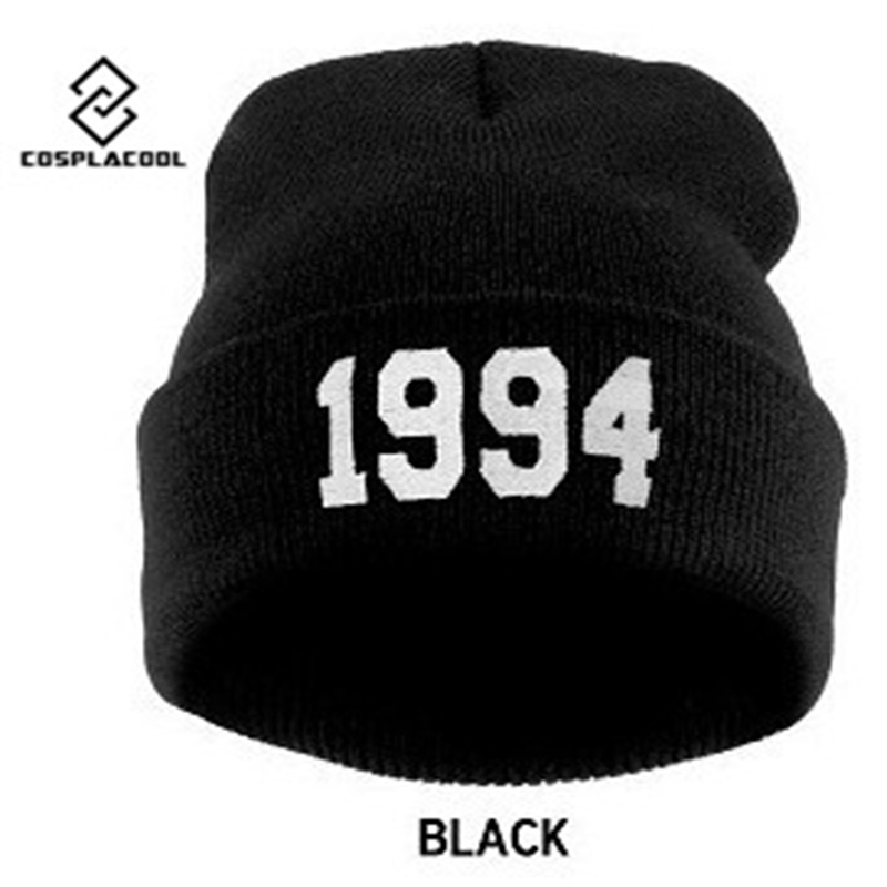COSPLACOOL 7 Colors Fashion Letter Hats for Women Cap Casual Hat 1994 Knitted Wool Cap Men Male Female Hip Hop Cap Beanies Hat