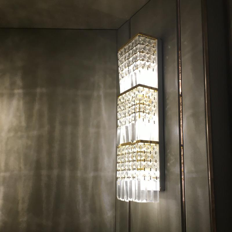 Us 238 0 100 Crystal Large Wall Lamp Tv Background Home Lighting Hotel Project Professional Modern Led Sconce Mirror Light In