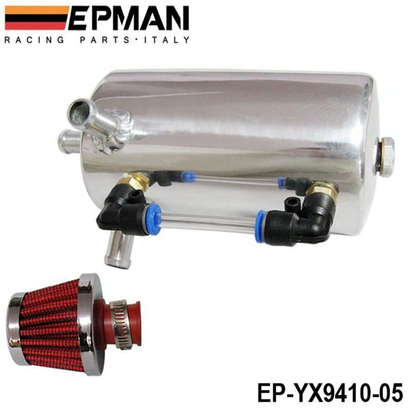 Universal 1.5L Alloy Aluminum Oil Water Catch Tank Resevoir Fuel Tank With Cap