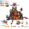 2016 New LEPIN 14019 1244Pcs Nexoe Knights Jestros Vulkanfestung Model Building Block Brick  Toy