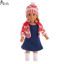 Fleta 2018 Knitted sweaters suit fit Doll or american doll Clothes Doll Accessories(China)