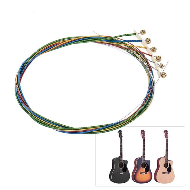 6 unids Acústica Folk Guitar Strings Set de Reemplazo de Accesorios de Instrumen