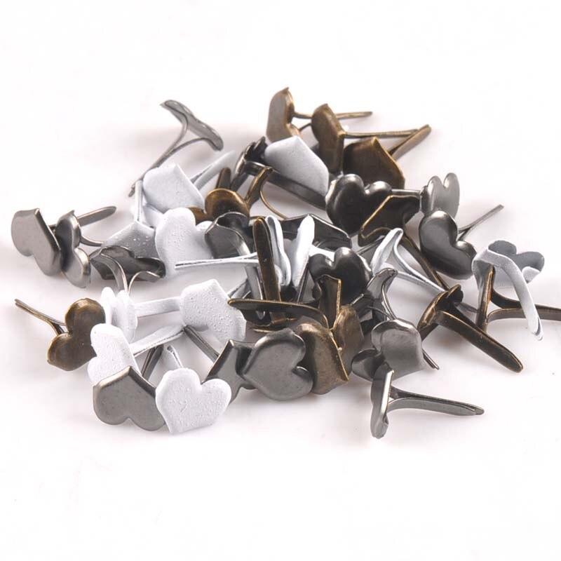 Смешанный узор Круглые Diy штифтики для скрапбукинга, украшение на застежке Брэд металлические изделия для украшения 28 Дизайн выбор cp2241