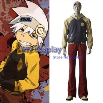 Anime Soul Eater Cosplay - Soul Eater Cosplay Evans Men's Party Costume for Halloween Freeshipping фото