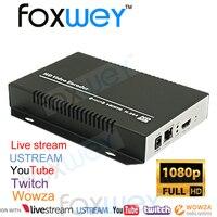 Pro 1080 P HDMI H264 Akış Kodlayıcı RTMP için Youtube Canlı  Twitch  Ustream  Wowza  canlı Yayın  Canlı Akış FOXWEY
