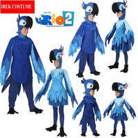New Bayi New Cosplay Party Costume Adult Children Halloween Classic Blue Parrot Macaw Costumes Prom Clothing