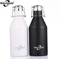 My Drink Bottle 2L Kettle with Rope Drinkware 2000ml Stainless Steel Sport Water Drinking Fitness Bottle Accessories