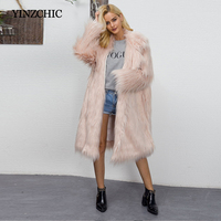 Euro Style Woman Fake Fur Coat Winter New Womans Long Faux Fur OverCoats Warm Outwear Fur Coat For Woman Street Party Fur Coats