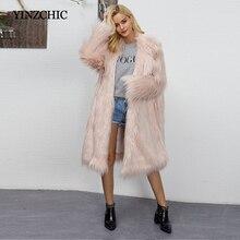 Euro estilo mujer falso abrigo de piel de invierno nueva mujer de larga chaqueta de piel chaquetas de abrigo de piel para mujer de la calle fiesta abrigos de piel