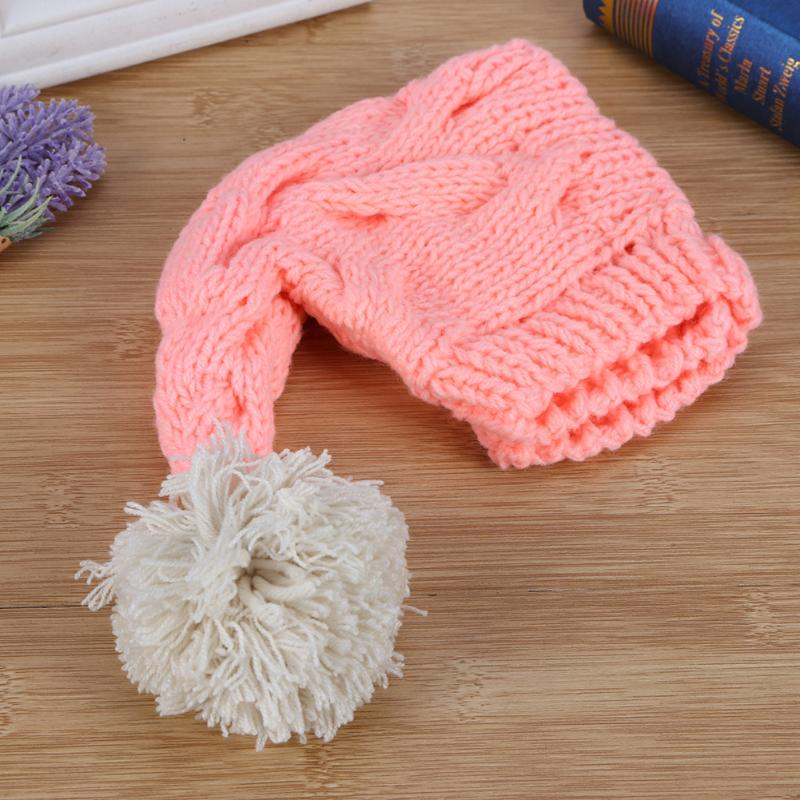 Baby Pink Photography Props Hats Infant Newborn Baby Boys Girls Knitted Warm Cap Photo Decoration