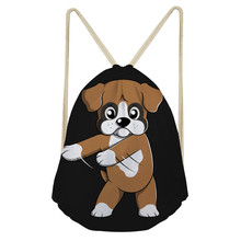 ThiKin Boxer Dog Women Drawstring Backpack Newest College Students School Drawstring bag Girls Mochila Feminina Sack Bag