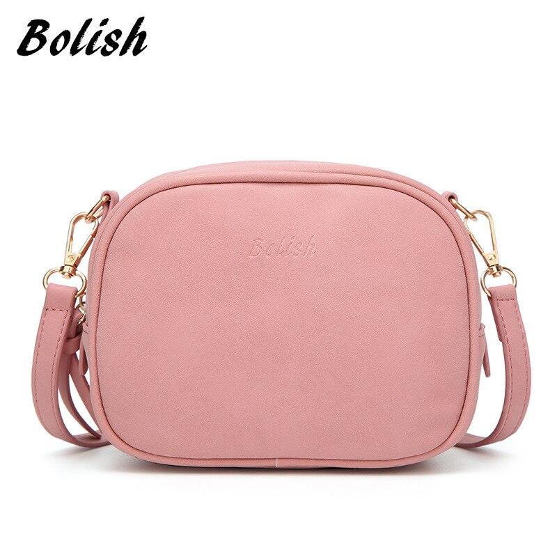 Bolish  brand women messenger bags with a small tassel summer new solid crossbody bag female flap handbag