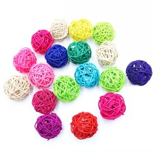 Hot Sale 10pcs/lot 4CM lovely Rattan Ball, Christmas/Birthday&Home Wedding Party Decorations DIY Ornaments Ball Kids Toys