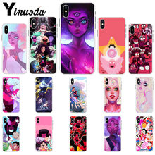 2525a5ce990 Yinuoda steven universe real life Doodle Crystal Gem Soft Shell Phone Cover  for iPhone X XS MAX 6 6S 7 7plus 8 8Plus 5 5S XR
