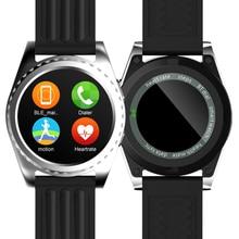 Original gs3 smart watch herzfrequenz fitness tracker bluetooth lautsprecher armbanduhr sms anruf erinnern smartwatch für ios android männer