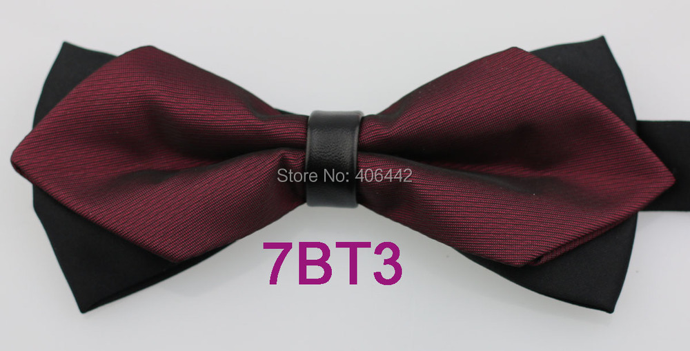 New Men/'s Pre-tied Bow Tie /& Hankie tone on tone stripes striped Navy Dark Blue