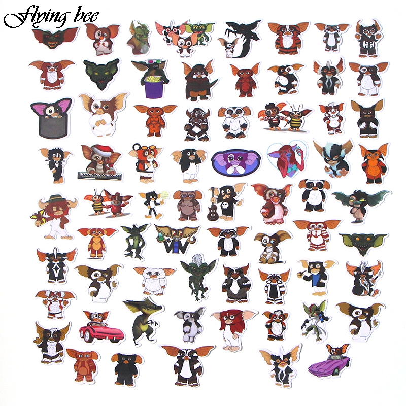 Image 3 - Flyingbee 66 Pcs Gremlins Anime Sticker Decals Scrapbooking Stickers for DIY Luggage Laptop Car Phone Skateboard Graffiti X0019-in Stickers from Consumer Electronics