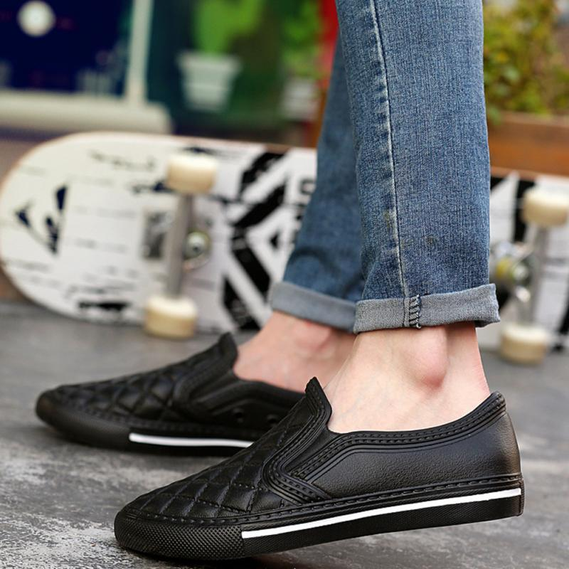 Plus size flat Men shoes fashion Leather breathable flats slip on Summer shoes casual loafers #0905 everyone gain projection screen 40 inch 16 9 table screen projector hd screen portable easy carry proyector screen fabric