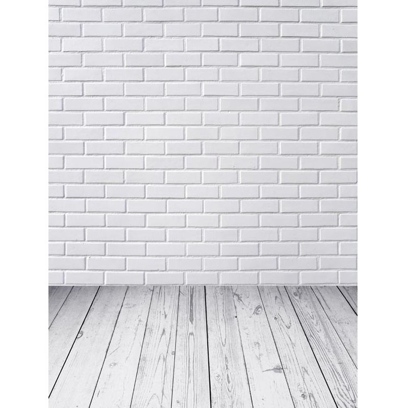 Custom vinyl cloth white brick wall wood floor photography backdrop for wedding kids photo studio portrait backgrounds S-1112 photography backdrops bright yellow wood wood brick wall backgrounds for photo studio