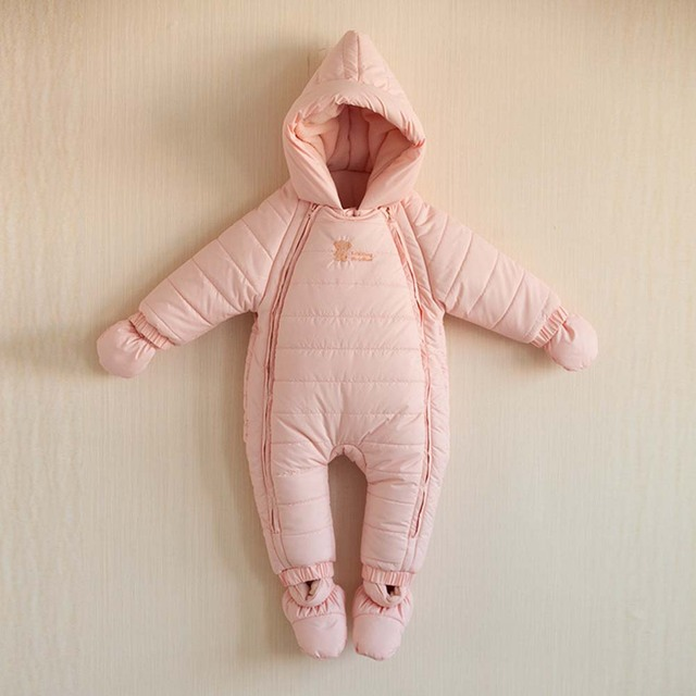 ef985245da9 Children s Winter Rompers Suit Overalls For Winter Warm Baby Boy s Jumpsuit  Baby Cotton Padded Body Climb