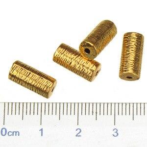 Золотые шарики, подвески «сделай сам», браслеты, ожерелье, винтажная трубка, серебряные, деревянные дизайнерские полые цилиндрические буси...