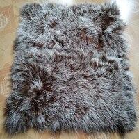 Luxury Real Mongolian Lamb Fur Blanket Bed Tibetan Fur Rug Floor Carpet Decorative Blankets Rugs and Carpets For Living Room
