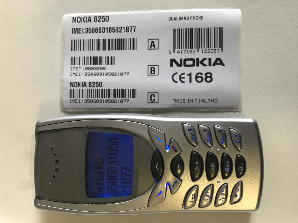 Refurbished phone NOKIA 8250 mobile phone Dual band 2G GSM 900/1800 Classic Cheapest Cell phone gold 15