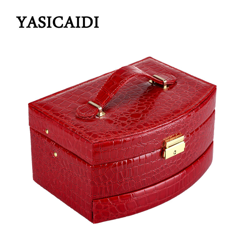 Hot Sell High Quality Velvet Three Layers Portable Multi-functional Necklace Rings etc Jewelry Boxes Fashion Design Gifts Box trendy fashion jewelry multi tribal cut out tiered necklace set by fashion destination
