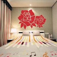 2016 3D grande rosa acrílico cristal tridimensional adesivos de parede sofá parede tv fundo sala quarto decoração