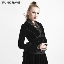 Punk Rave Black Women Gothic Lace Short Jacket with Chinese Knot Y-614