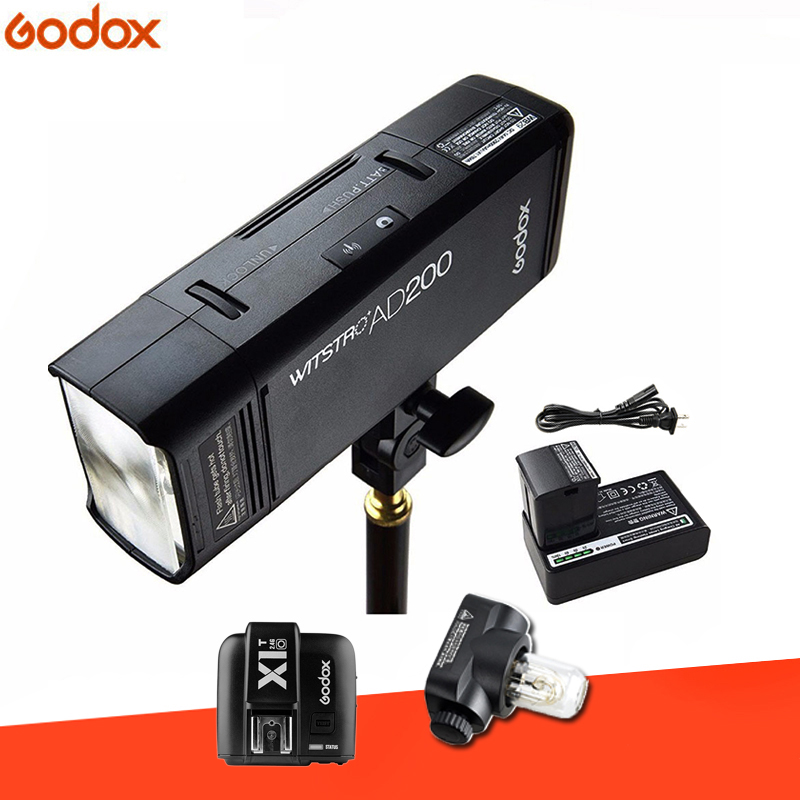 Godox AD200 TTL 2.4G HSS 1/8000s Pocket Flash Light Double Head 200Ws with 2900mAh Lithium Battery Strobe Flash for Olympus godox ad200 200ws 2 4g ttl flash strobe 1 8000 hss cordless monolight